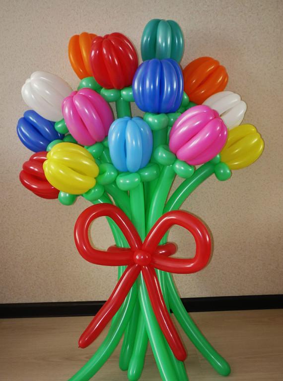 Пошаговое как сделать цветы из шаров